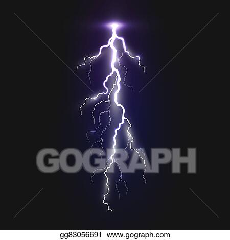 Stock Illustrations New Realistic Lightning Sign Stock Clipart Gg83056691 Gograph
