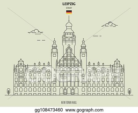 Vector Stock New Town Hall In Leipzig Germany Landmark Icon Clipart Illustration Gg108473460 Gograph