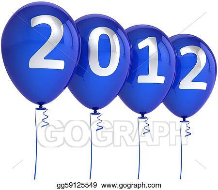new year 2012 xmas blue balloons