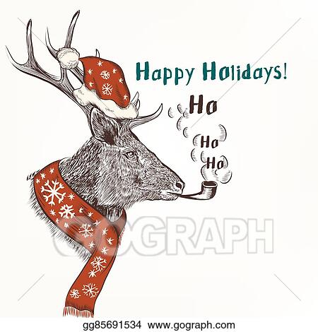 Christmas Humor Images.Eps Vector New Year And Christmas Humor Background With