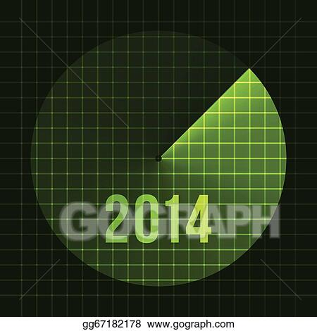 new year background sonar 2014 card template for text vector illustration