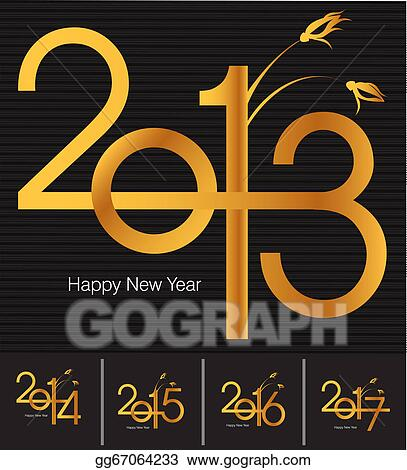 Vector clipart new year greeting card vector illustration new year greeting card m4hsunfo