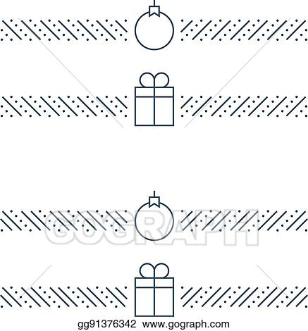 new year minimalistic text separator christmas theme linear border xmas decor