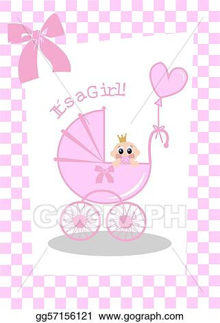 Vector Stock Newborn Baby Girl Clipart Illustration Gg57156121 Gograph
