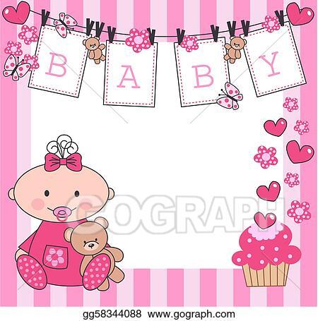 Newborn Baby Girl Clipart