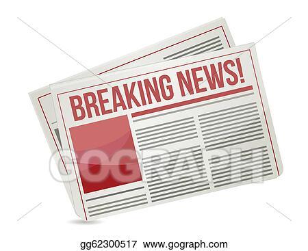 Eps Vector Newspaper Headline Breaking News Stock Clipart Illustration Gg62300517 Gograph