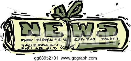 Today's news shows current newspaper 3d illustration. Today's news notepad  shows current newspaper 3d illustration.