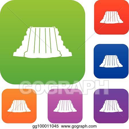 vector art niagara falls set color collection eps clipart rh gograph com