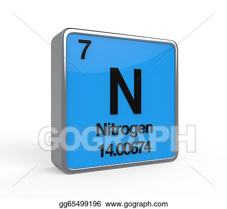 Stock Illustration Nitrogen Element Periodic Table Clipart