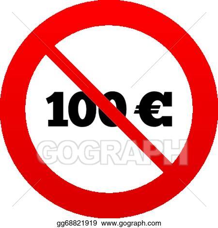 Vector Illustration No 100 Euro Sign Icon Eur Currency Symbol