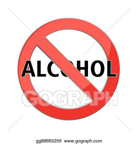 Eps Vector No Alcohol Sign Stock Clipart Illustration Gg88665259