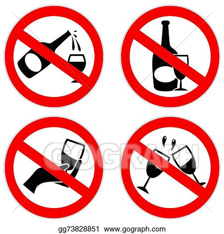 Vector Illustration No Alcohol Symbol Eps Clipart Gg73828851