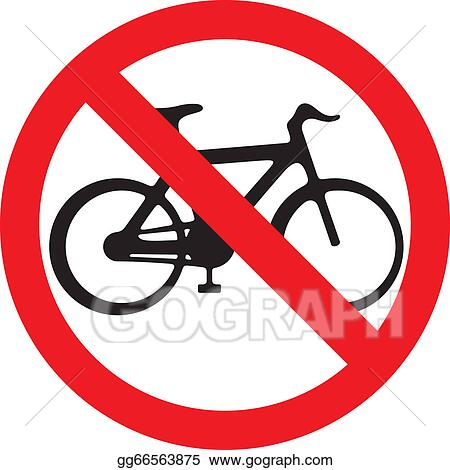Vector Art No Bicycle Sign No Bikes Symbol Clipart Drawing