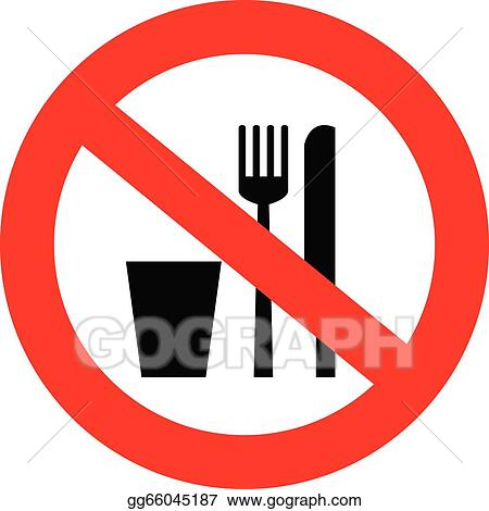 vector clipart no food and drink sign vector illustration rh gograph com no food or drink clipart no food clipart free