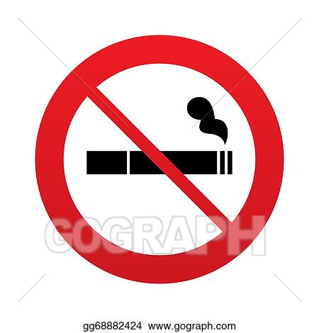 Drawing No Smoking Sign Icon Cigarette Symbol Clipart Drawing