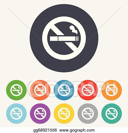 vector art no smoking sign icon cigarette symbol clipart drawing