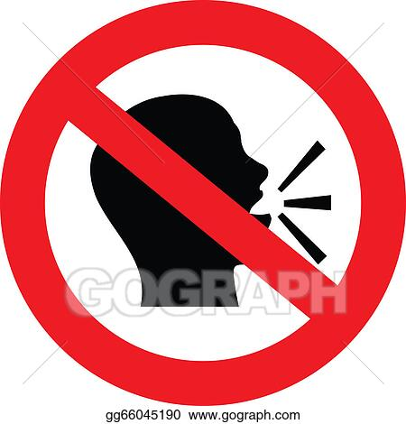 vector clipart no talking sign vector illustration gg66045190 rh gograph com  clipart no talking