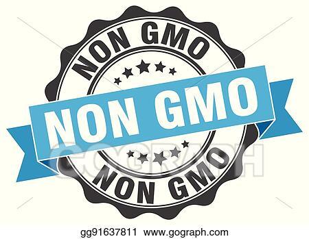 Clip Art Vector Non Gmo Stamp Sign Seal Stock Eps Gg91637811