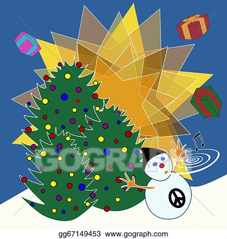 Religious Christmas Music Clipart.Stock Illustration Non Religious Christmas Card Clipart