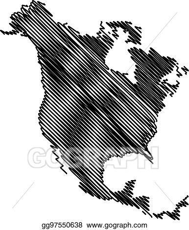clip art vector north america map vector stock eps gg97550638