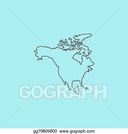 Vector Illustration North America Map Eps Clipart