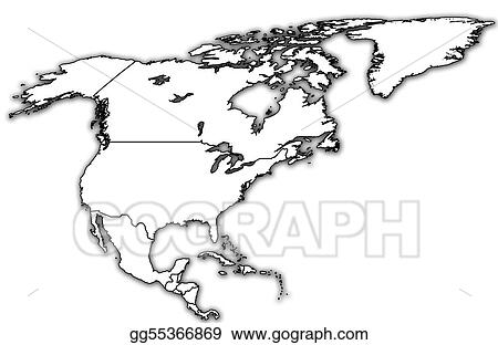 Map Of America Drawing.Drawing North America Political Map Clipart Drawing Gg55366869