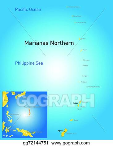 EPS Illustration - Northern mariana islands map. Vector Clipart ...