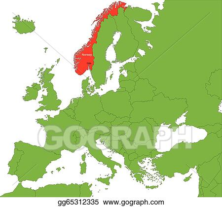 Clip Art Vector Norway Map Stock EPS Gg GoGraph - Norway map eps
