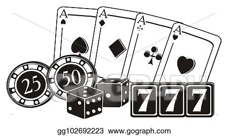Stock Illustration Not Colored Numbers And Symbols Of Las Vegas