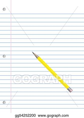 Stock Illustration Notebook Paper And Pencil Clipart Drawing