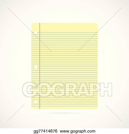 Vector Art Notebook Paper Illustration Clipart Drawing Gg77414676