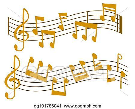 Vector Art - Notes music vector melody colorfull musician