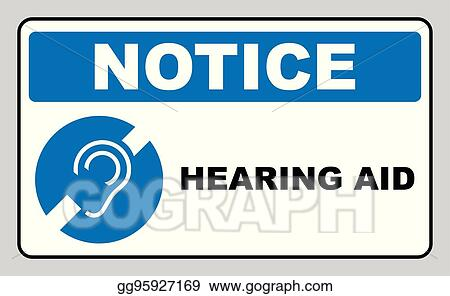 Vector Illustration Notice Symbol Hearing Aid Banner Hearing