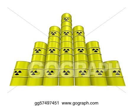 Drawings - Nuclear waste pyramid  Stock Illustration gg57497451