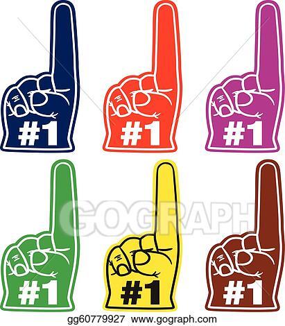foam finger vector. number one foam finger vector
