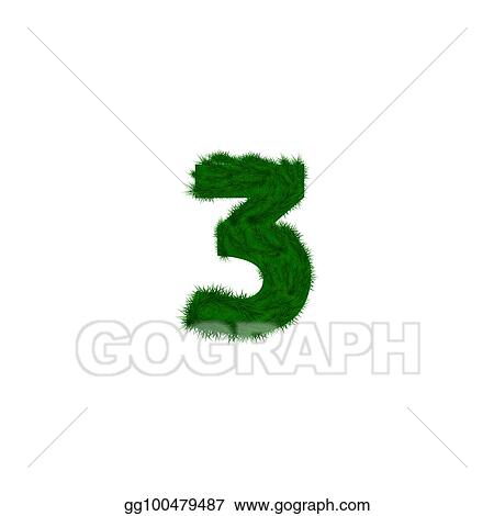 Stock Illustration Numbers Decorated With Pine Branches
