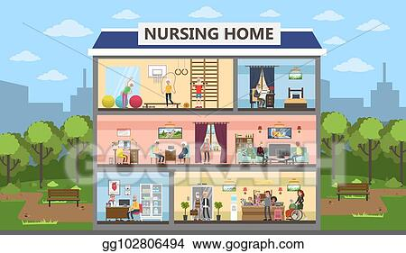 Vector Illustration Nursing Home Interior Stock Clip Art Gg102806494 Gograph
