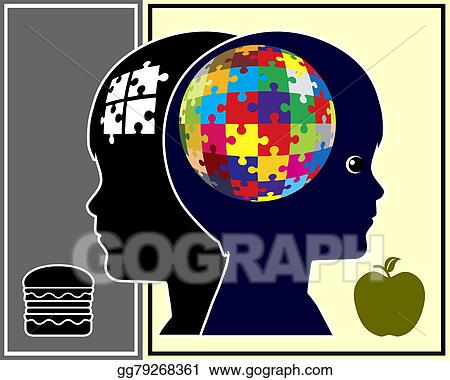 Stock Illustration Nutrition And Brain Function Clipart Drawing Gg79268361 Gograph