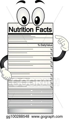 Nutrition Facts Mascot Illustration