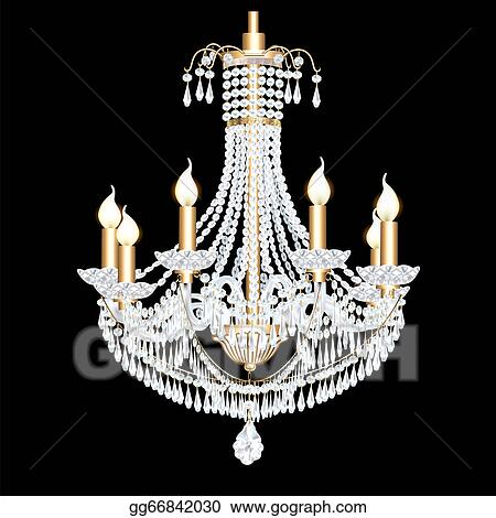 Vector Art Of A Crystal Chandelier Antique With Pendants Clipart Rh Gograph Com Clip