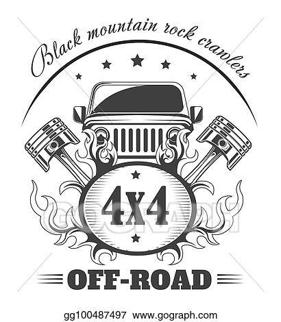 Vector Art - Off-road 4x4 extreme car club logo template