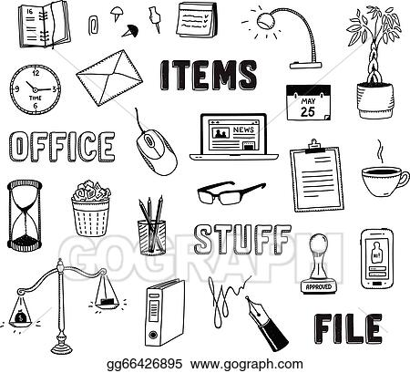 vector stock office and business objects doodles set stock clip rh gograph com Power Tool Clip Art Bored Clip Art