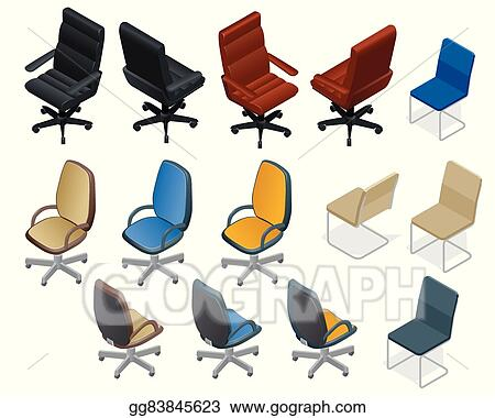 Vector Art Office Chair Isolated On White Background Chair And