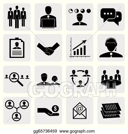 vector art office icons signs of people concepts for business
