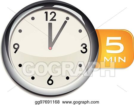 vector art office wall clock timer 5 minutes clipart drawing