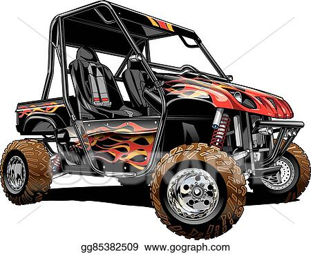 Eps Illustration Offroad Side By Side Atv Vector Clipart