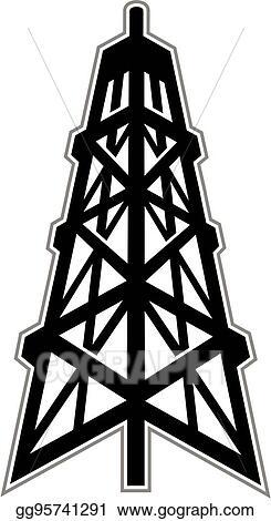 vector illustration oil derrick stock clip art gg95741291 gograph rh gograph com Oil Derrick Clip Art Black and White Oil Derrick Clilpart