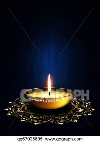 Stock illustrations oil lamp with place for diwali greetings over oil lamp with place for diwali greetings over dark background m4hsunfo