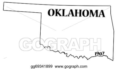 vector stock oklahoma state and date clipart illustration rh gograph com oklahoma musical clipart oklahoma sooners clipart