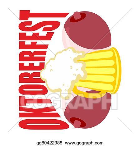 Vector Stock Oktoberfest Beer Mug Between Tits Symbol Of Beer